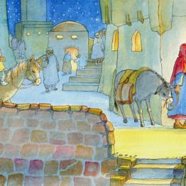2003 die weihnachtsgeschichte | bilderbücher | illustrationen | magdalene hanke-basfeld: bilder