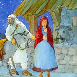 2003 die weihnachtsgeschichte   bilderbücher   illustrationen   magdalene hanke-basfeld: bilder